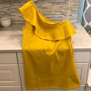Only worn 1x - yellow one shoulder dress